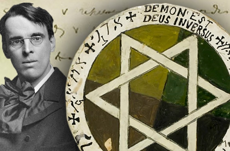 W.B. Yeats Golden Dawn Magical Tools and Pentacle