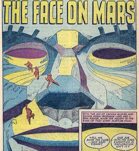 'The Face on Mars' in a 1959 Comic Book