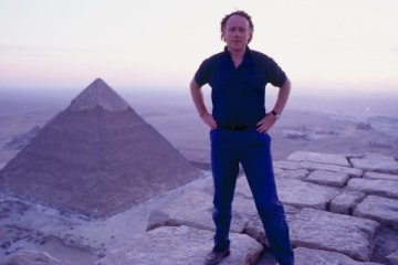 Graham Hancock on top of the Great Pyramid