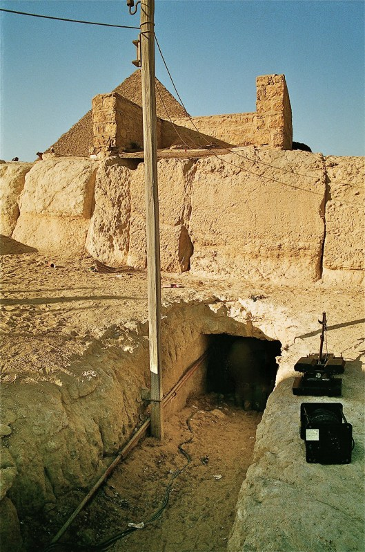 "Entrance to the ""Tomb of Osiris"" shaft"