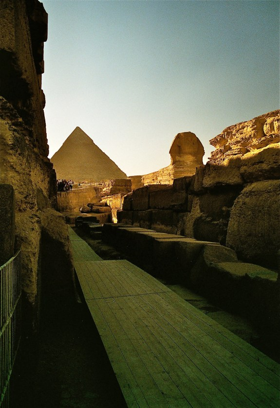 Pathway beside the Great Sphinx