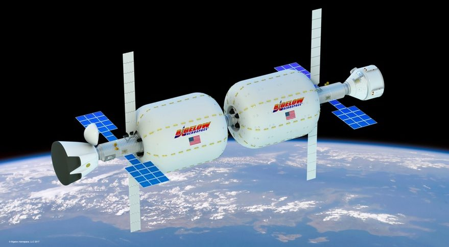 Bigelow Aerospace's render of their projected inflatable orbital station