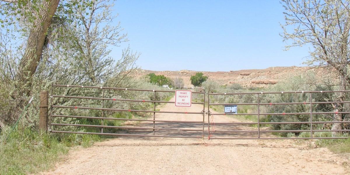 Entrance to Skinwalker ranch