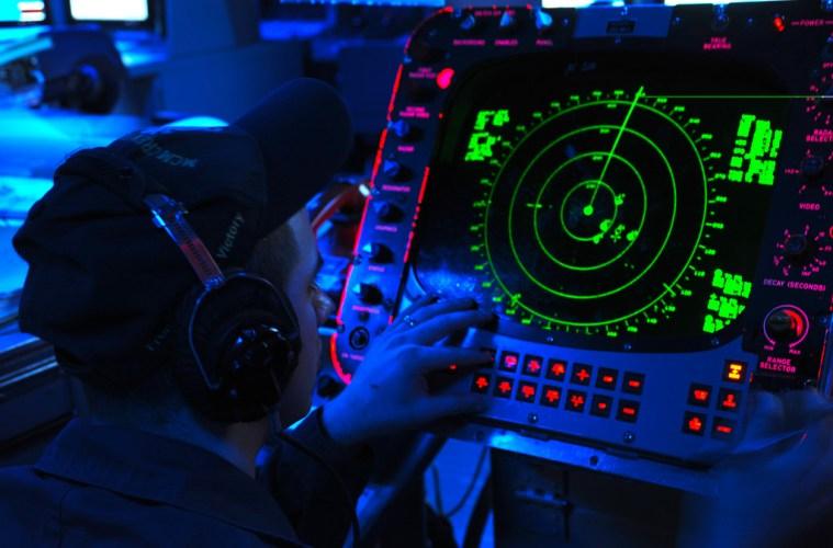 US Navy Radar Operator