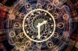 Occult clock showing fractal time