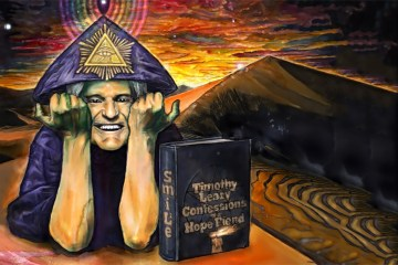 Timothy Leary as Aleister Crowley. Image by Adam Scott Miller.