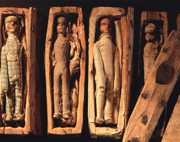 The Arthur's Seat Coffin dolls (courtesy National Museums Scotland)