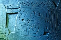 Depiction of San Pedro cactus in ancient Chavin art (CCSA4.0 licence, author Cbrescia)