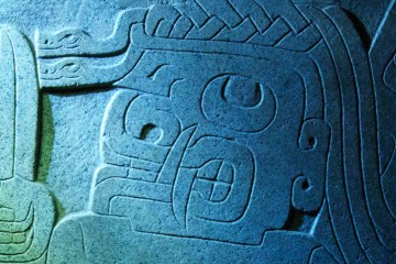 Depiction of San Pedro cactus in ancient Chavin art (CCSA4.0 licence, author Cbrescia)