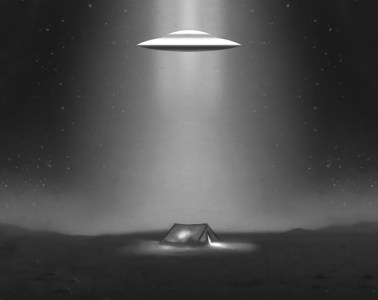 UFO over tent at Area 51