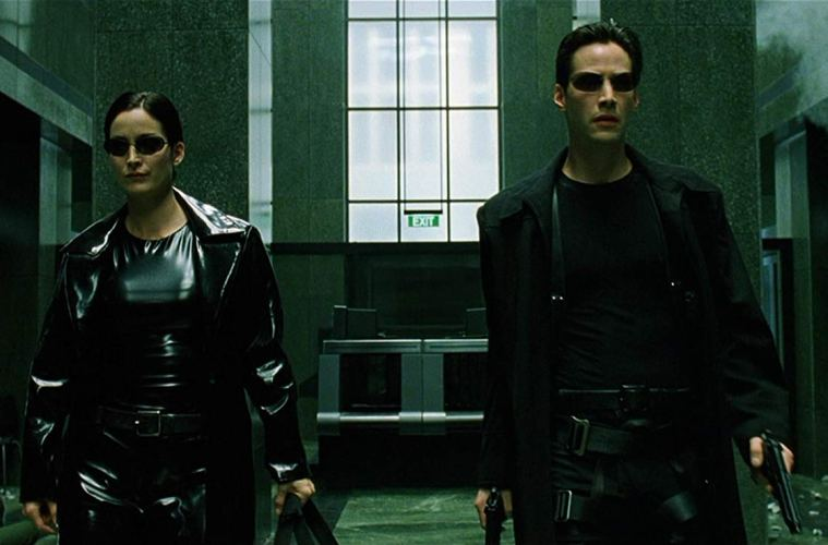 Neo and Trinity in the Matrix