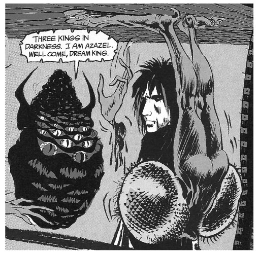 Many-eyed Azazel, as depicted in Neil Gaiman's 'Sandman'