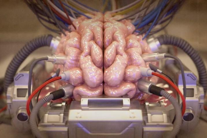 Brain in a simulation, from A Glitch in the Matrix