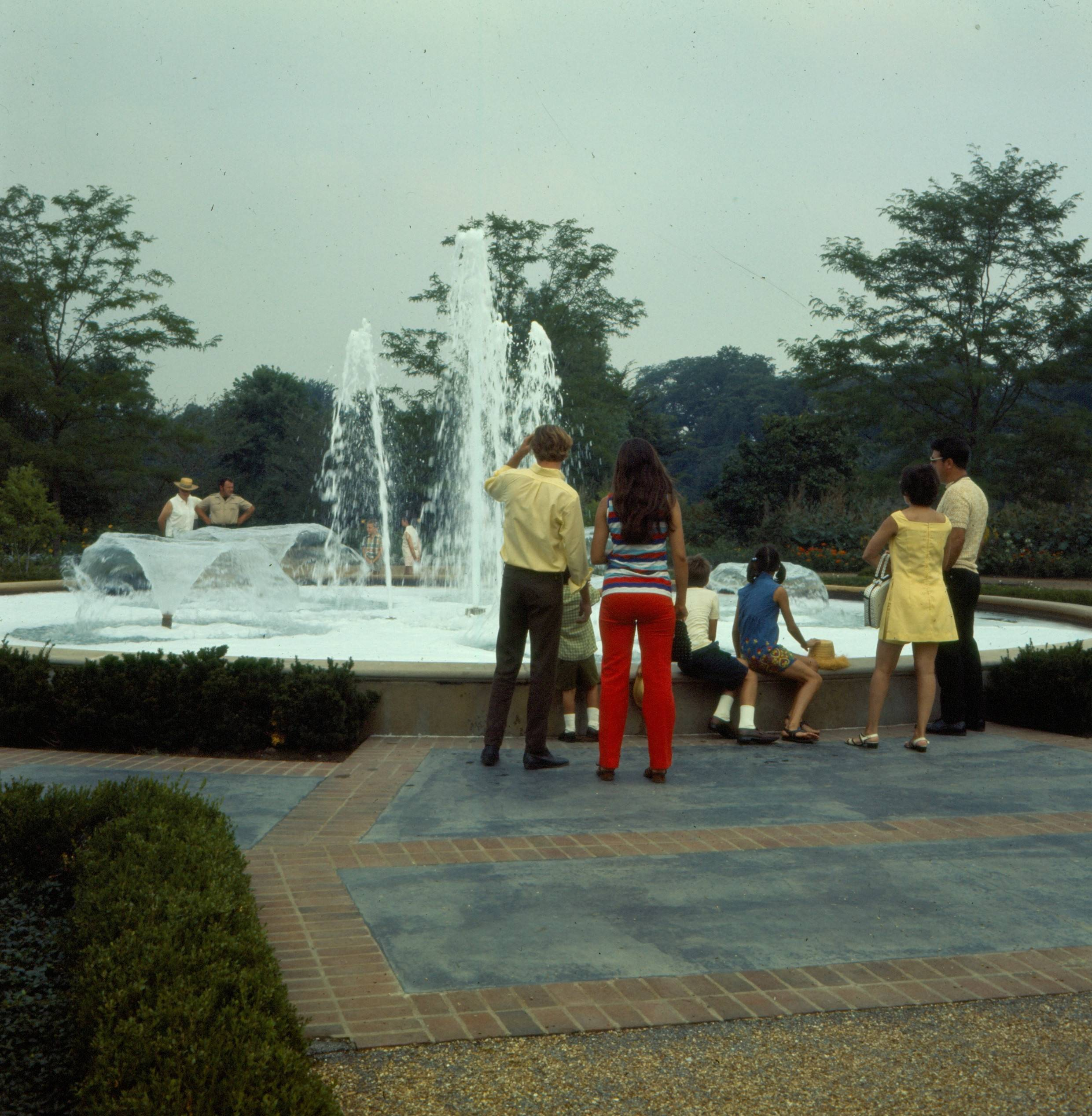 Cantigny fountain, circa 1970s.