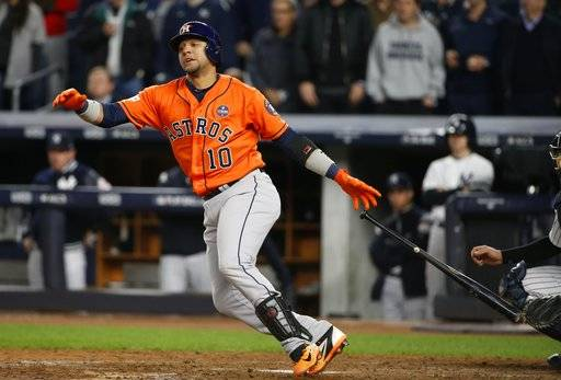 Image result for yuli gurriel game 4 alcs double