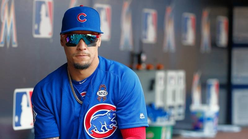 "Chicago Cubs second baseman Javier Baez on his bat-flip: ""I will learn from it. That's all I have to say."""