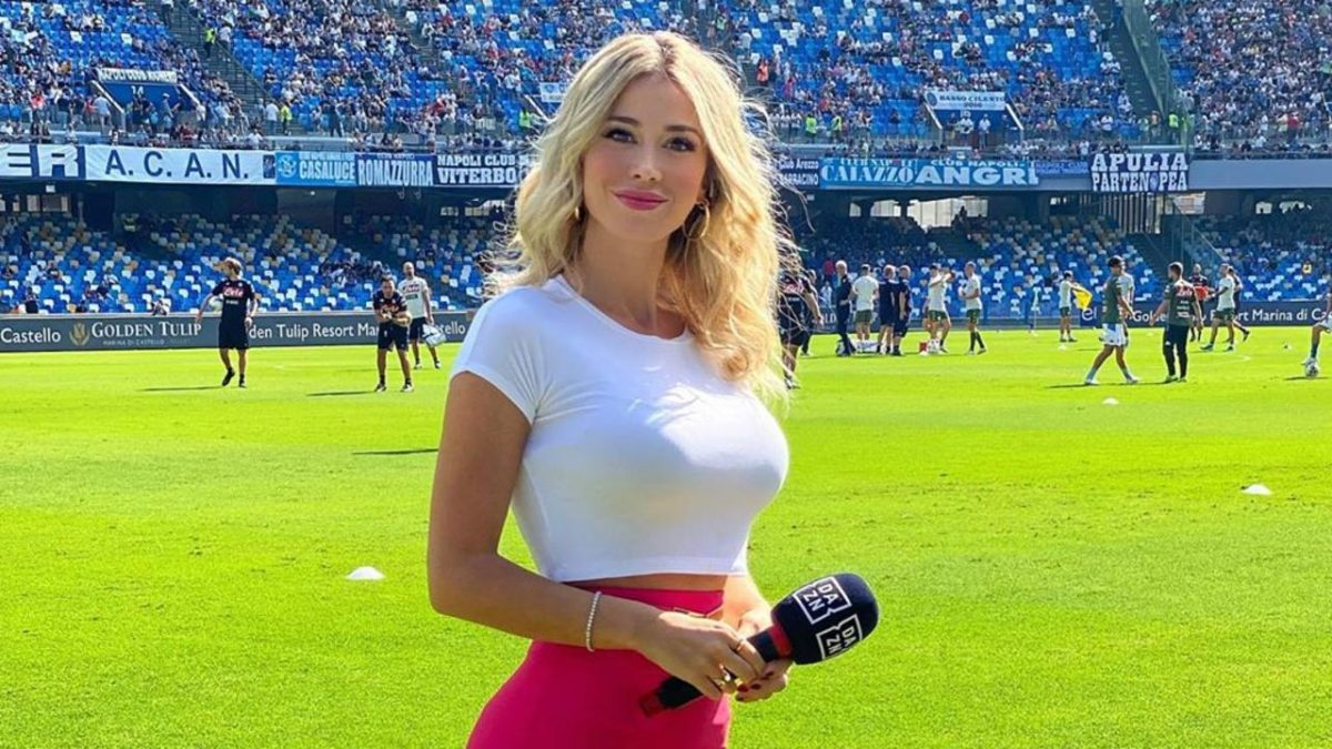 Soccer fans get 'thumb down' after urging TV presenter to take off her top