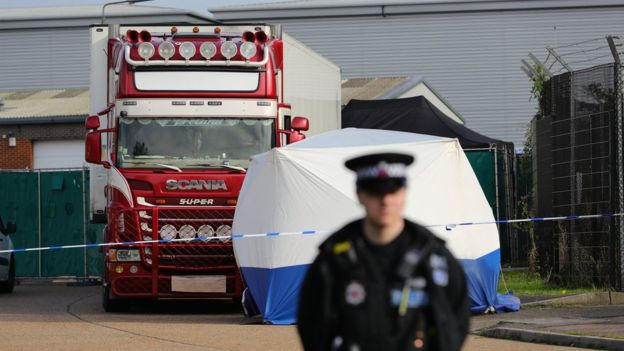 Essex lorry deaths: 39 bodies found in a shipping container