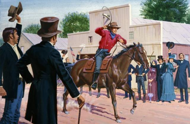 In 1860, the Pony Express began delivering mail from the east coast to the west coast in just 10 days.