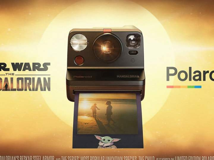 This Polaroid has Mandalorian Armor and Baby Yoda Film
