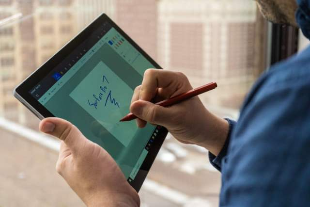 Microsoft Surface Pro 7 tablet and pen