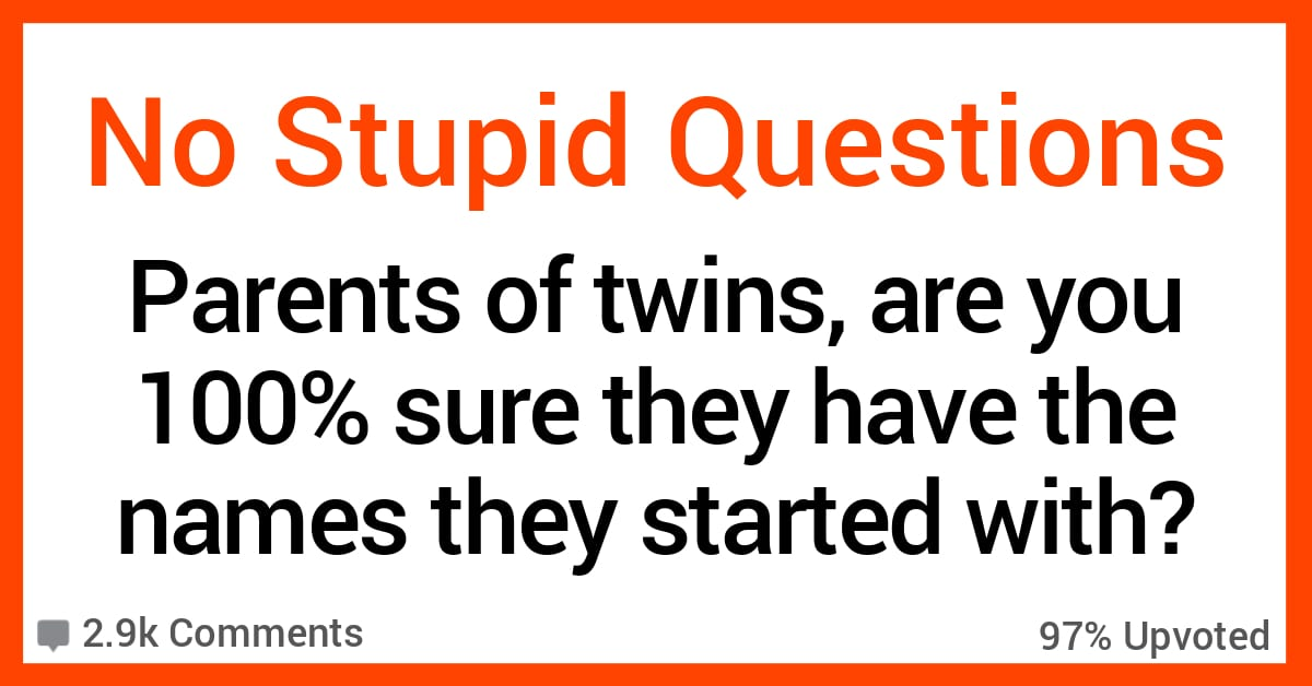 16 Parents of Twins Confess Whether or Not They're Sure They've Never Mixed up Their Names
