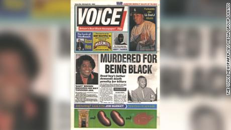 Voice leads on its front page, April 27, 1993 with the murder of Stephen C.