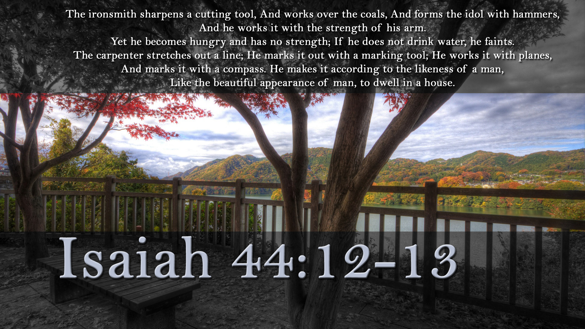 Image result for Isaiah 44:12