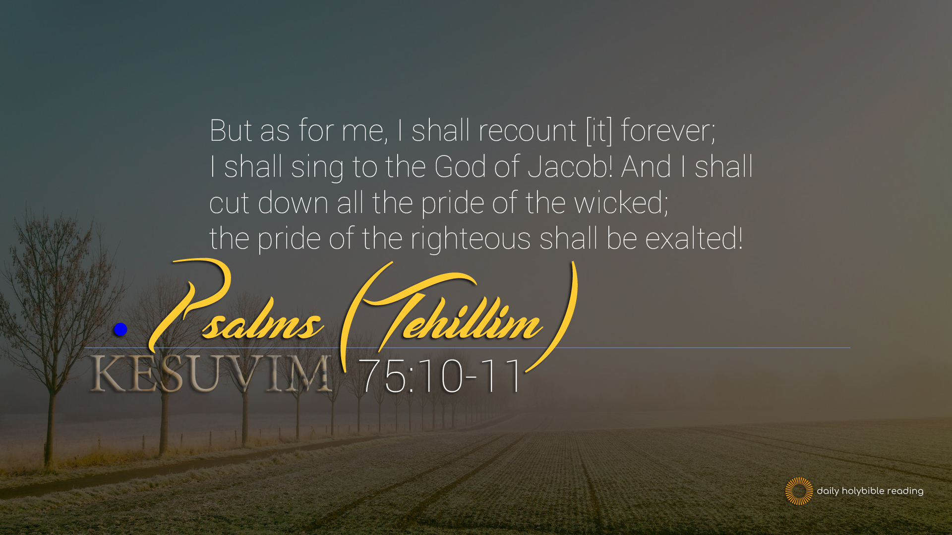Psalms Chapter 75