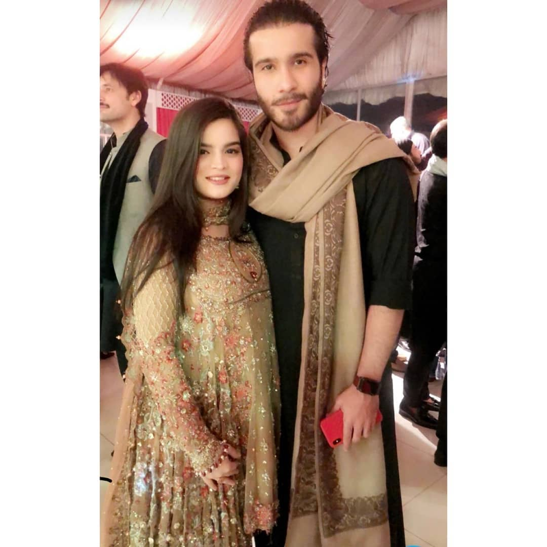 Awesome Photos of Feroze Khan with his Wife Alizey at a Wedding Event