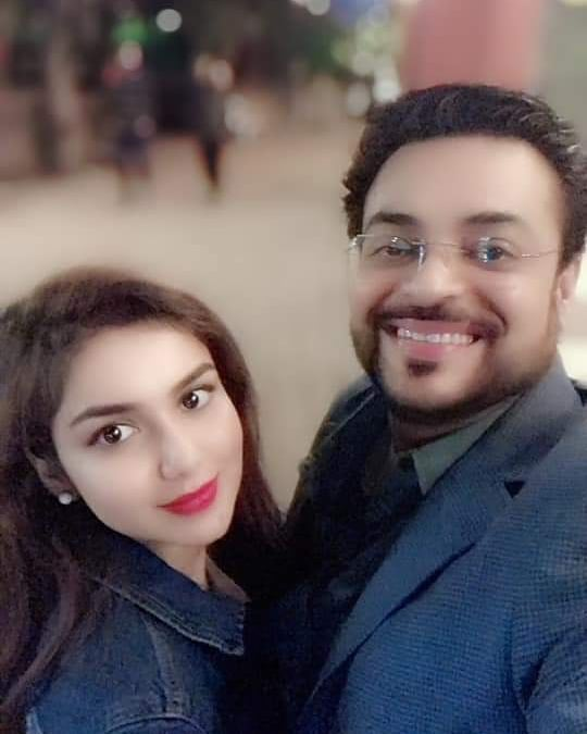 New Photos of Amir Liaquat with his wife Syeda Tuba in Islamabad