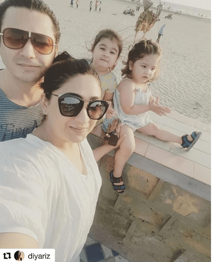 Awesome Photos of Actress Madiha Rizvi with her Cute Daughter