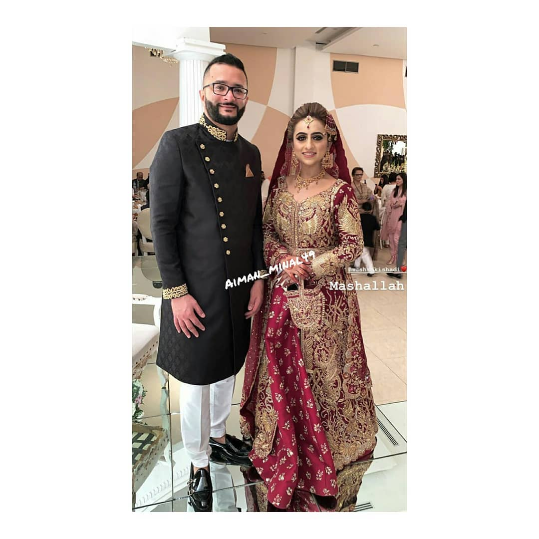 Awesome Aiman and Minal at a Wedding Event Last Night