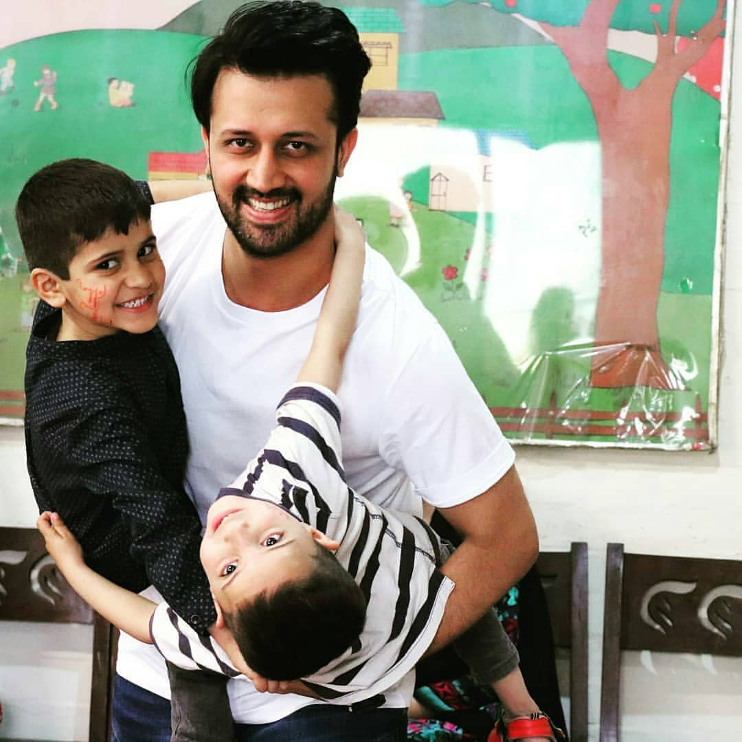 Atif Aslam with his Wife Spent a Day at Sos Children's Village Lahore