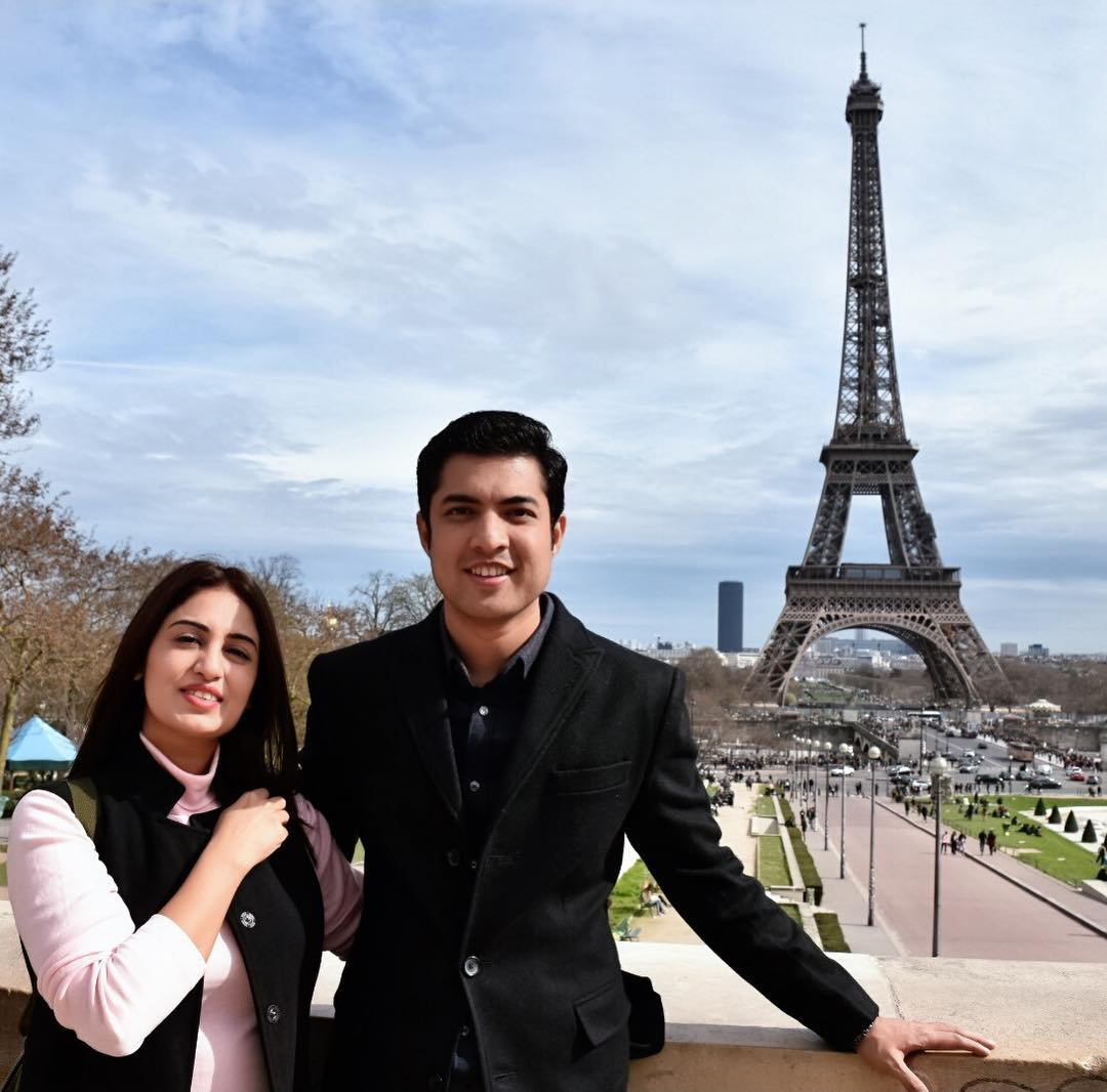 Awesome Photos of Iqrar ul Hassan with his 2nd Wife in Farah in France