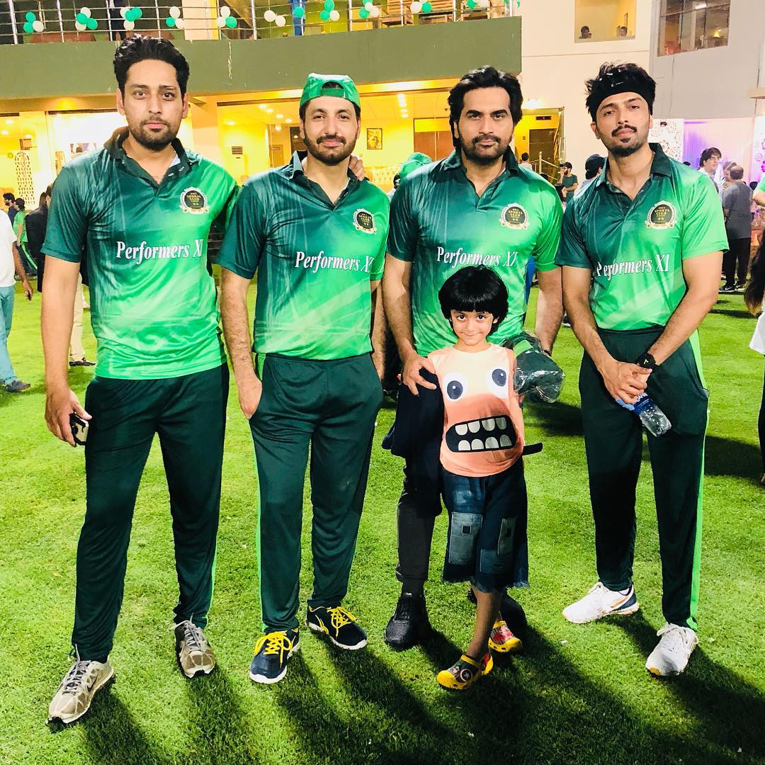 Syed Jibran and Saud with their Families at Celebrities Cricket Match