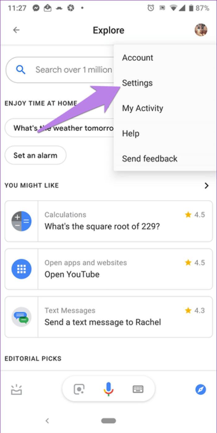 Google Assistant Settings 3