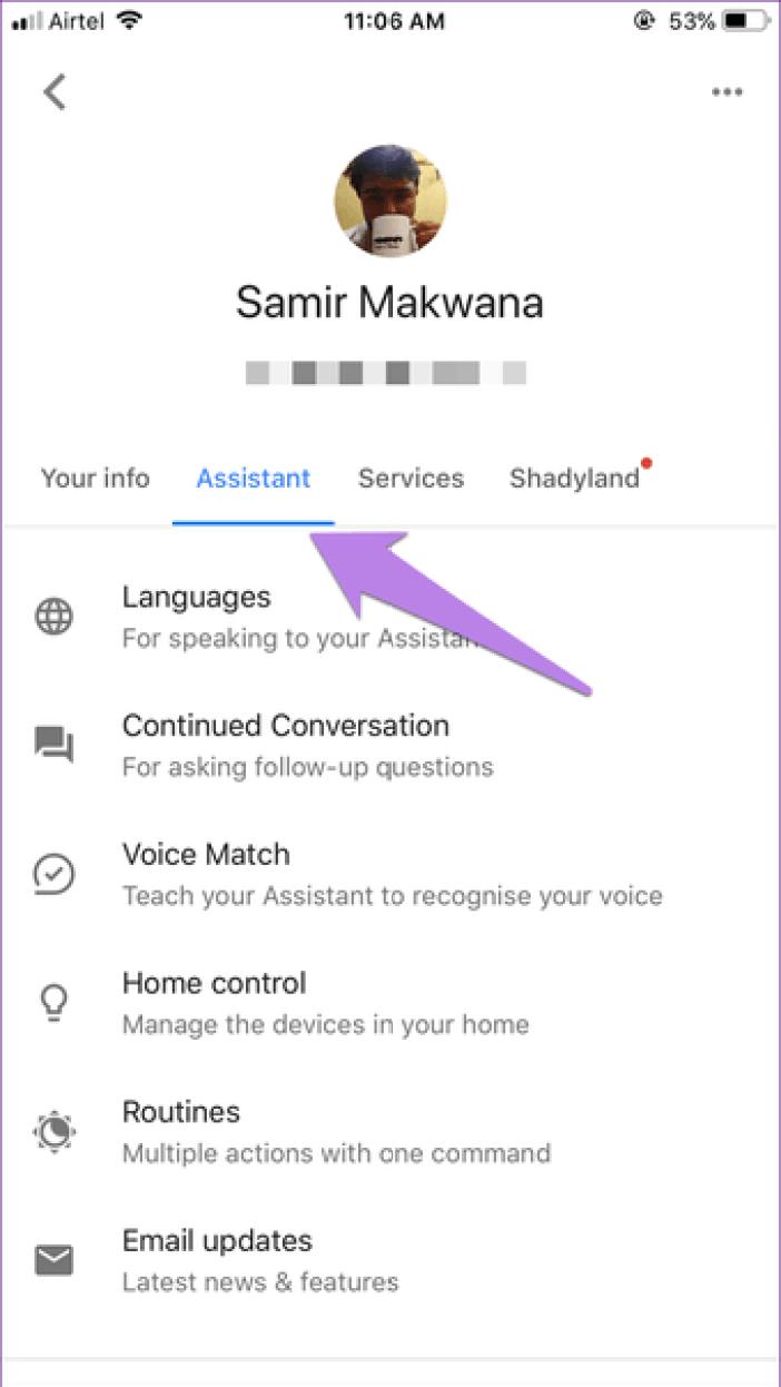 Google Assistant Settings 12