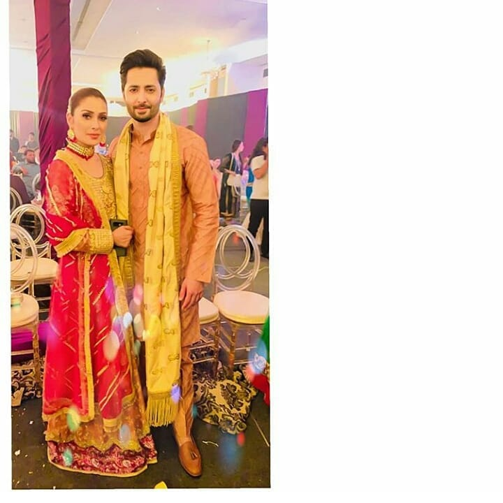 Ayeza Khan and Danish Taimoor at a Wedding Event