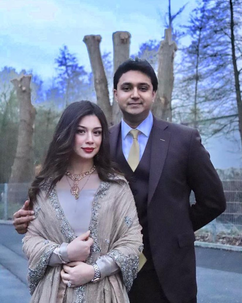 Awesome Sidra Batool with her Husband in Germany