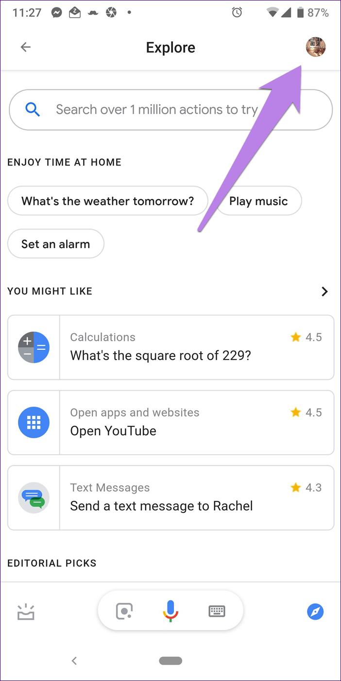Google Assistant Settings 2