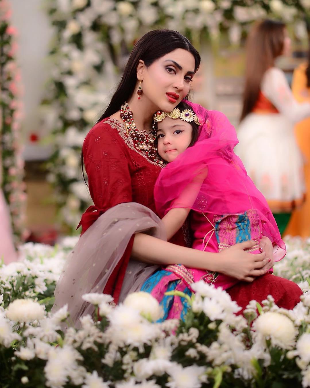Fiza Ali with her Daughter Faraal in Nida Yasir Morning Show