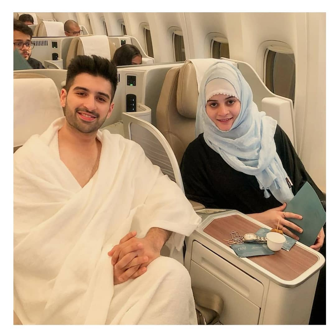 Aiman Khan and Muneeb Butt Travelling to Perform Umrah