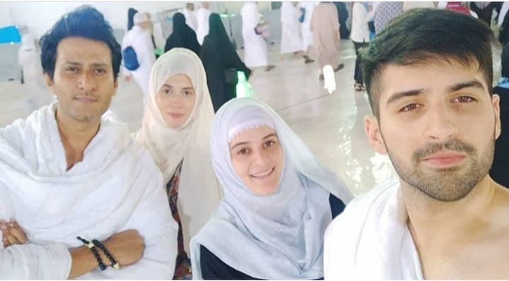 New Awesome Photos of Aiman and Muneeb in Makkah