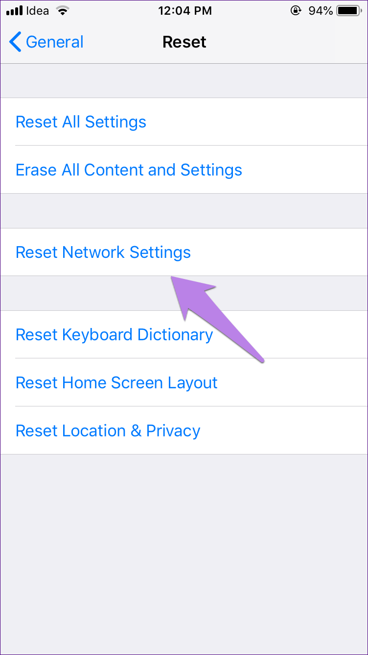 Reset Network Settings Android Ipad Iphone 3