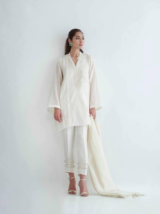 """Stylish Complete Eid Collection For Yr 2019 """"ALEF"""" by Sania Maskatiya"""