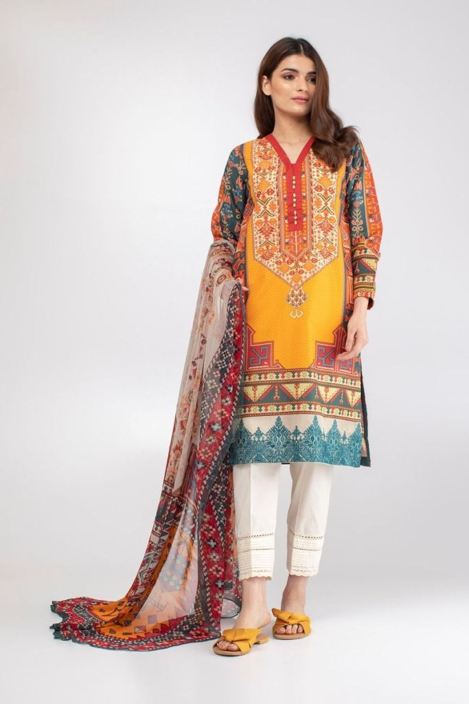 Stylish Khaadi Eid Embroidered Kurta Collection For Yr 2019 Styles with Dupatta