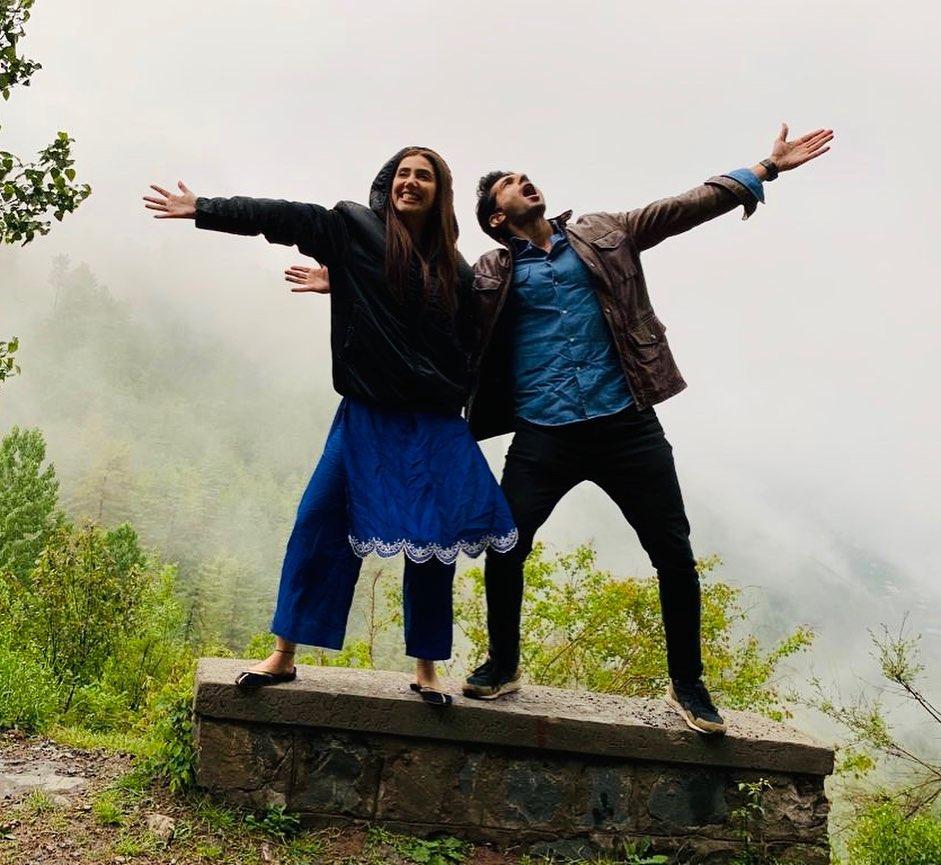 New Photos of Mahira Khan with Bilal Ashraf in Nathiagali