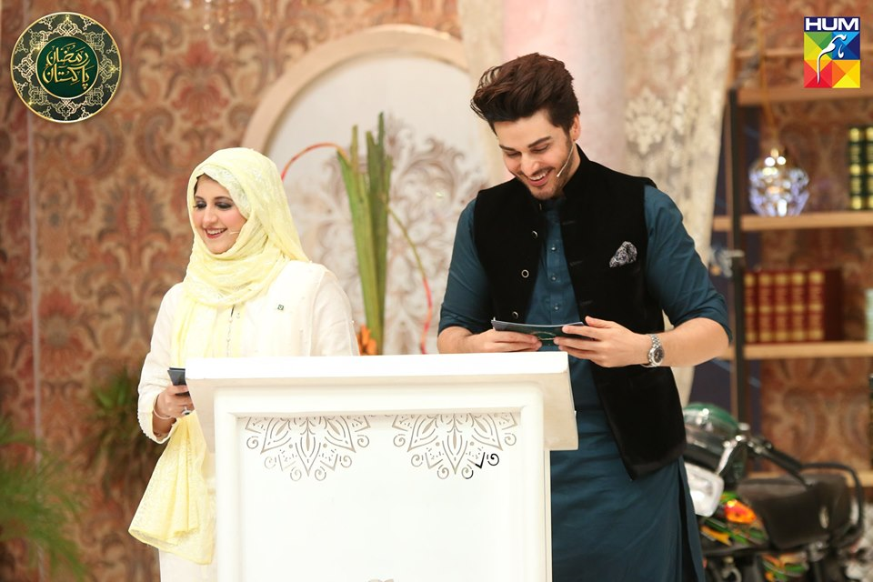 Awesome Photos of Bushra Amir and Tuba Amir in Ramzan Transmission of Ptv and Hum tv