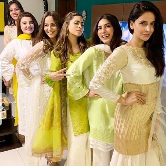Awesome Saba Qamar with her Friends on Eid Day
